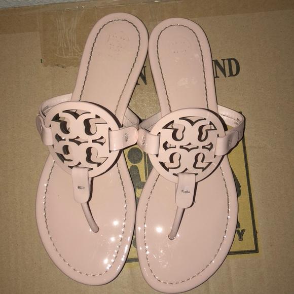 7c51e3d2f0d Tory Burch Miller Sandals In Seashell Pink 8.5. M 5c435e111b3294c0214c6d7f
